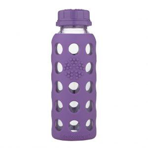 Lifefactory 250 ml  staklena boca s običnim čepom, grape