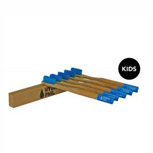 Četkica za zube od bambusa – plava (4 komada u paketu)