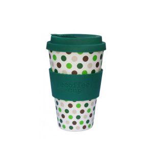 Ecoffee šalica za kavu/čaj  – Green Polka